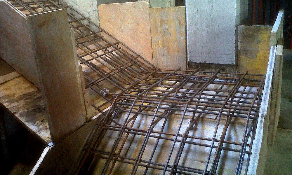 Ferroibiza s a trabajos ferralla a pi de obra - Escaleras de obra ...